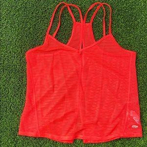 Strappy open slits in back v neck tank top
